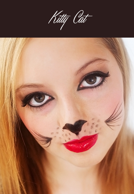 how to draw cat whiskers on your face