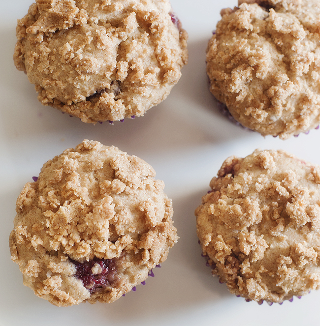 peanut butter and jelly muffins | pretty plain janes