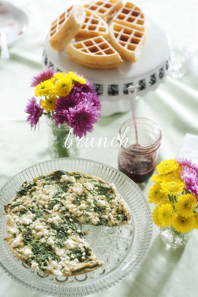 asparagus, spinach and feta frittata | pretty plain janes