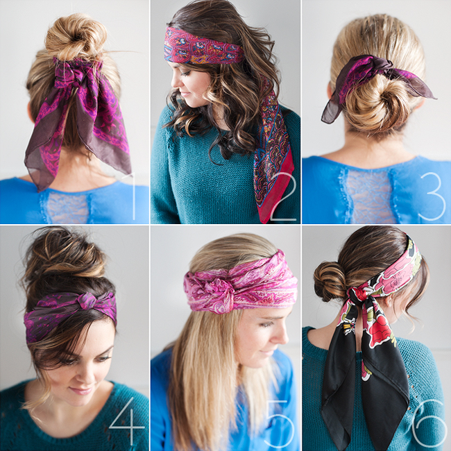 Six Easy Ways To Wear Head Scarves Pretty Plain Janes