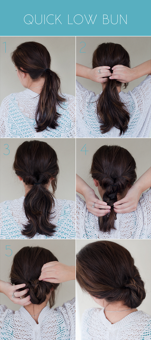 how to make ponytail of straight brazilian weave : hair in low loose ponytail and secure with a hair tie divide hair ...