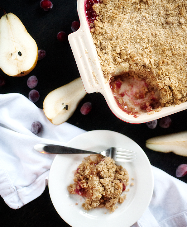 cranberry pear crisp | pretty plain janes