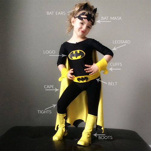 Diy batman and batgirl costume pretty plain janes diy batman and batgirl costume solutioingenieria Image collections