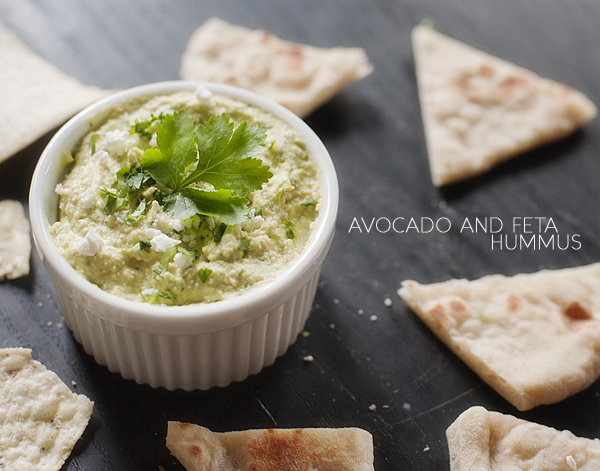Feta and Avocado Hummus Dip