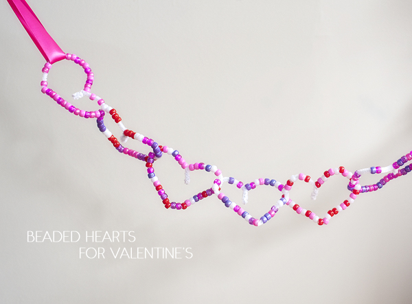 Beaded Hearts for Valentine's