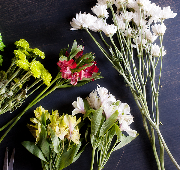 how to make grocery store flowers look good