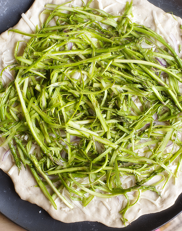 shaved asparagus pizza | pretty plain janes