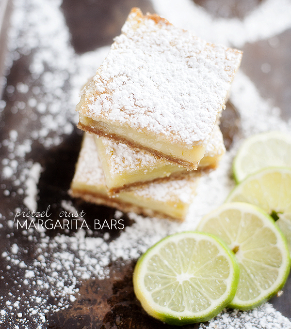 Margarita Bars with a Pretzel Crust