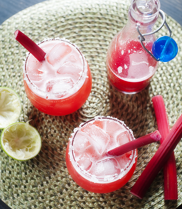 Strawberry Rhubarb Margarita