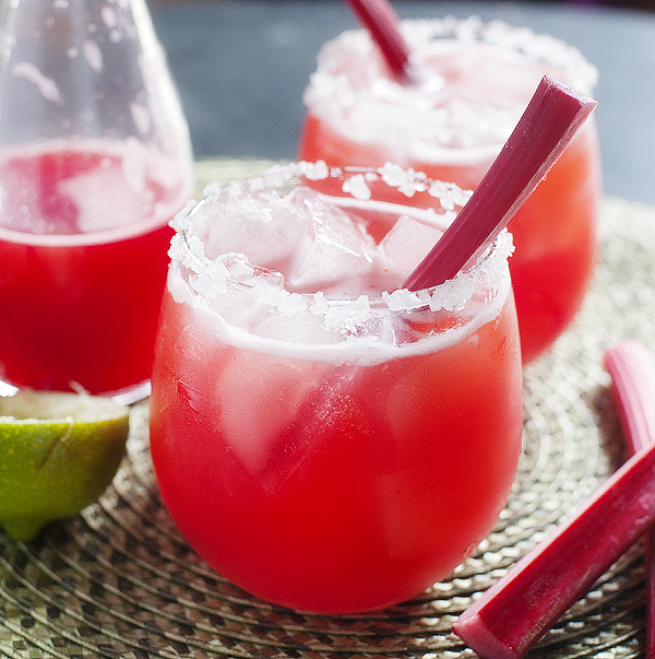 strawberry rhubarb margarita | pretty plain janes