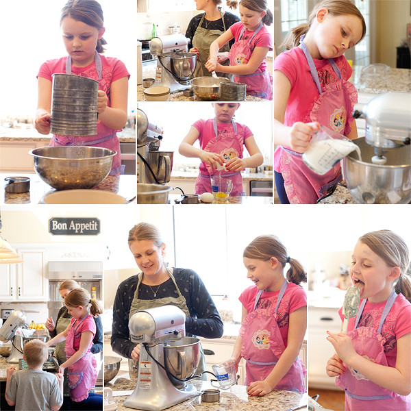 mother daughter baking