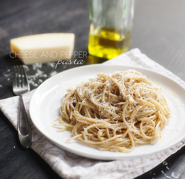 Cheese and Pepper Pasta (Cacio e pepe)