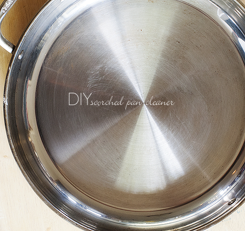 how to clean scorched pan