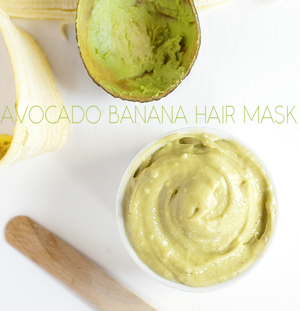 diy avocado banana hair mask