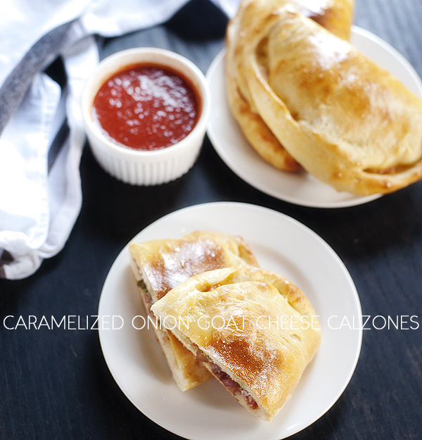 Caramelized Onion Goat Cheese Calzones