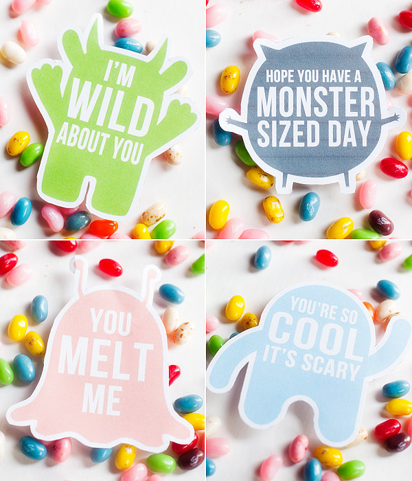 Free Lunch Box Monster Printables