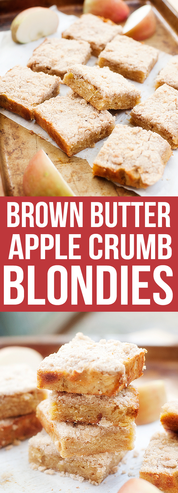 Brown Butter Apple Crumb Blondies