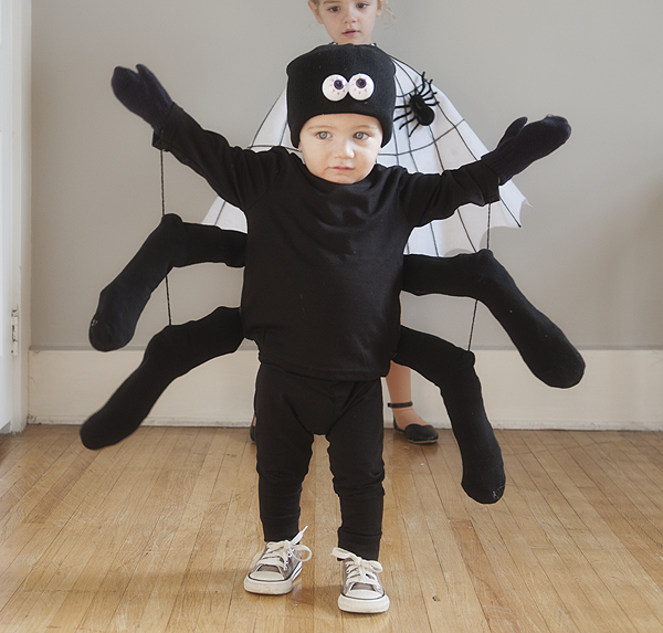 Easy diy spider and spider web costumes pretty plain janes for Easy homemade costume ideas for kids