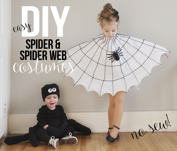 Easy diy spider and spider web costumes pretty plain janes diy spider spider web costume solutioingenieria