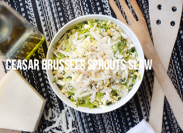Ceasar Brussels Sprouts Slaw