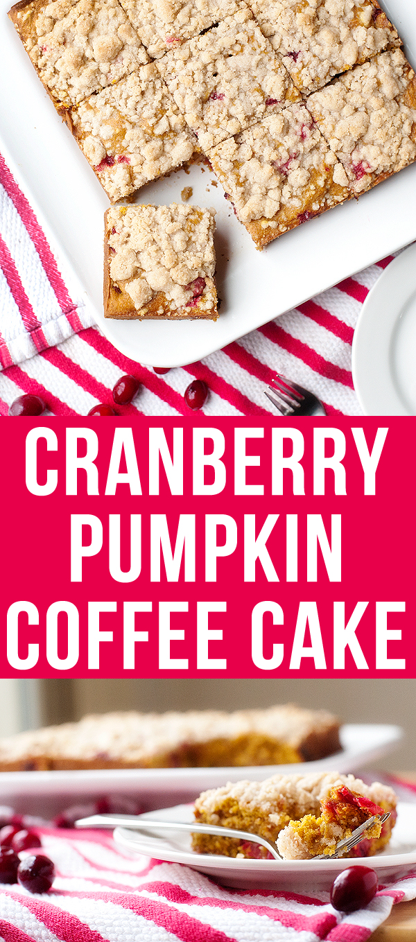 cranberry pumpkin coffee cake | pretty plain janes