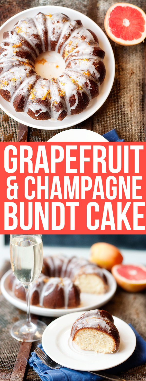 grapefruit and champagne bundt cake