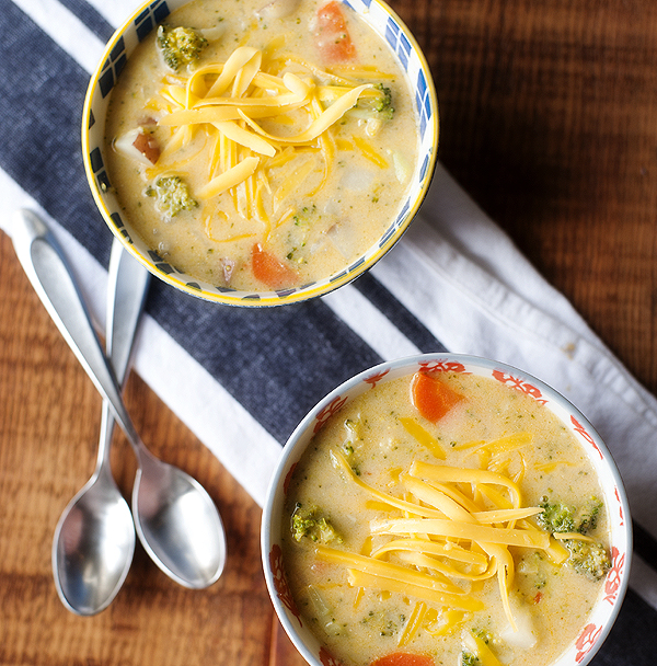 Broccoli Cheese Potato Soup