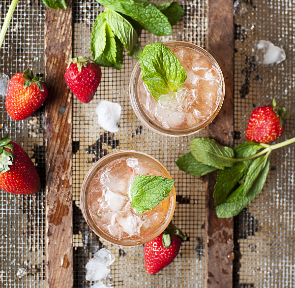 strawberry mint julep