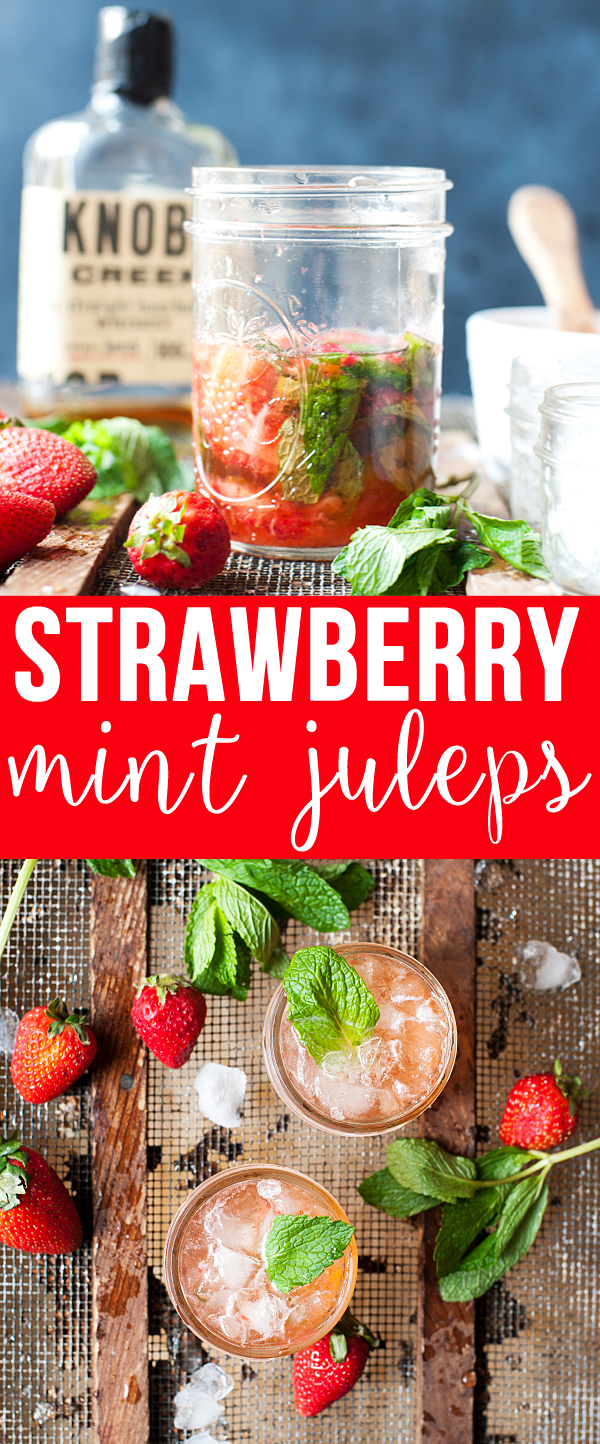 Strawberry Mint Juleps