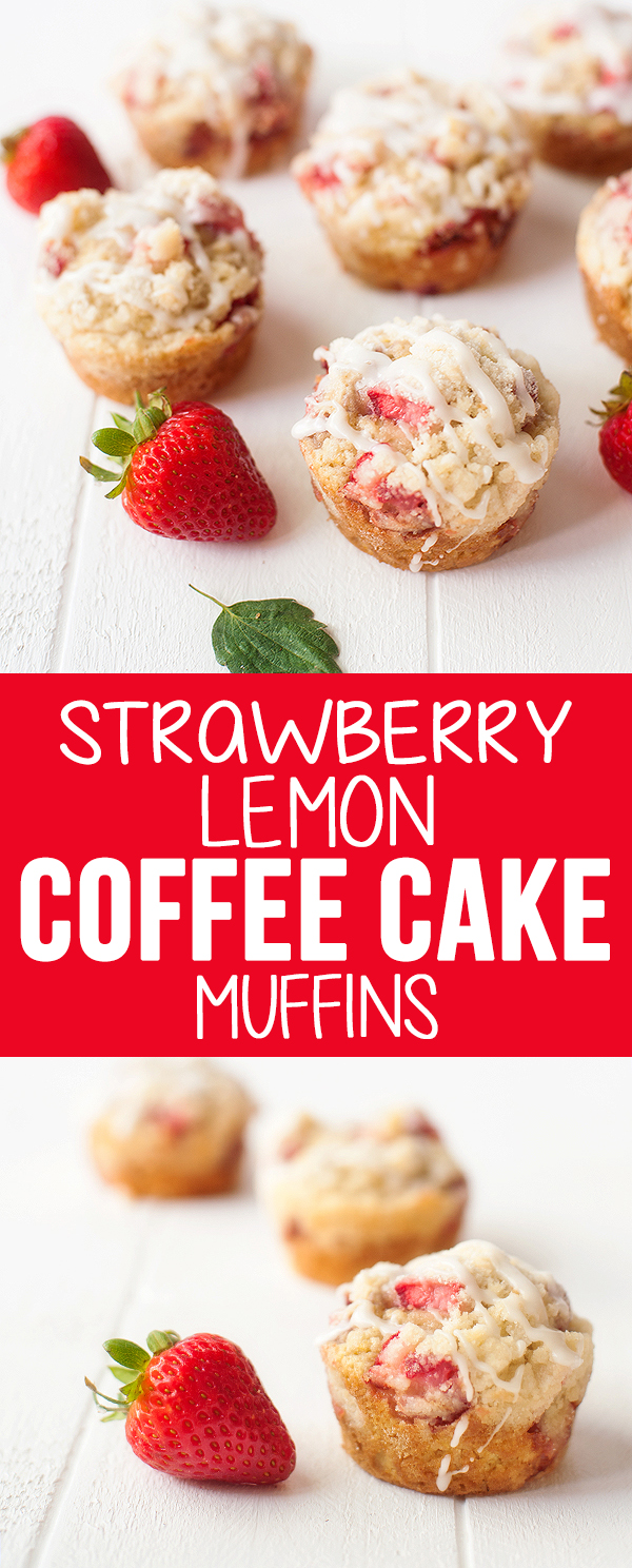 strawberry lemon coffee cake muffins