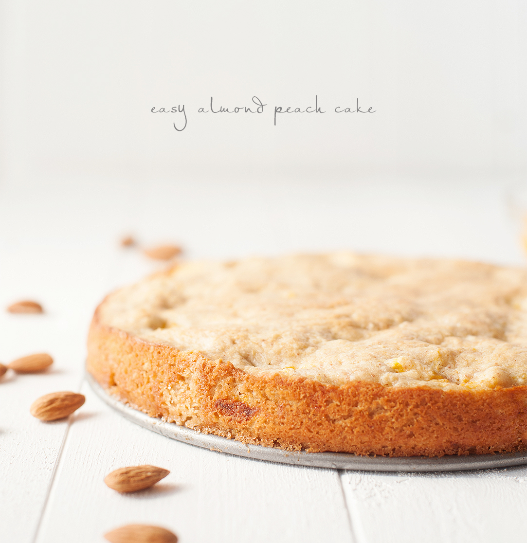 easy almond peach cake