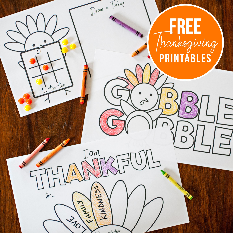 Free Thanksgiving Printables Pretty Plain Janes